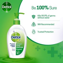 Dettol Original Germ Protection Alcohol based Hand Sanitizer Pump, 200ml